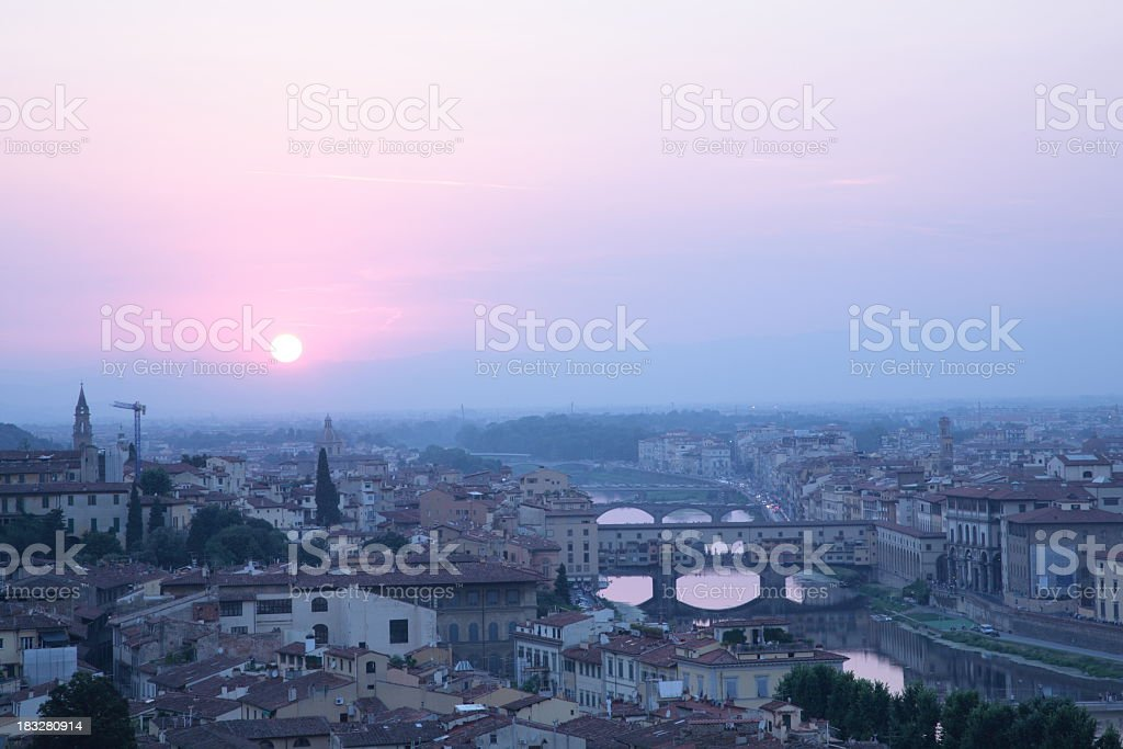 Florence during sunset royalty-free stock photo