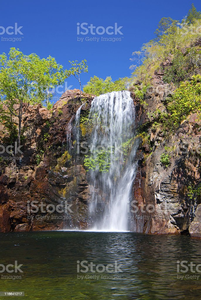 Florence Falls and waterhole at Litchfield, Northern Territory, Australia royalty-free stock photo