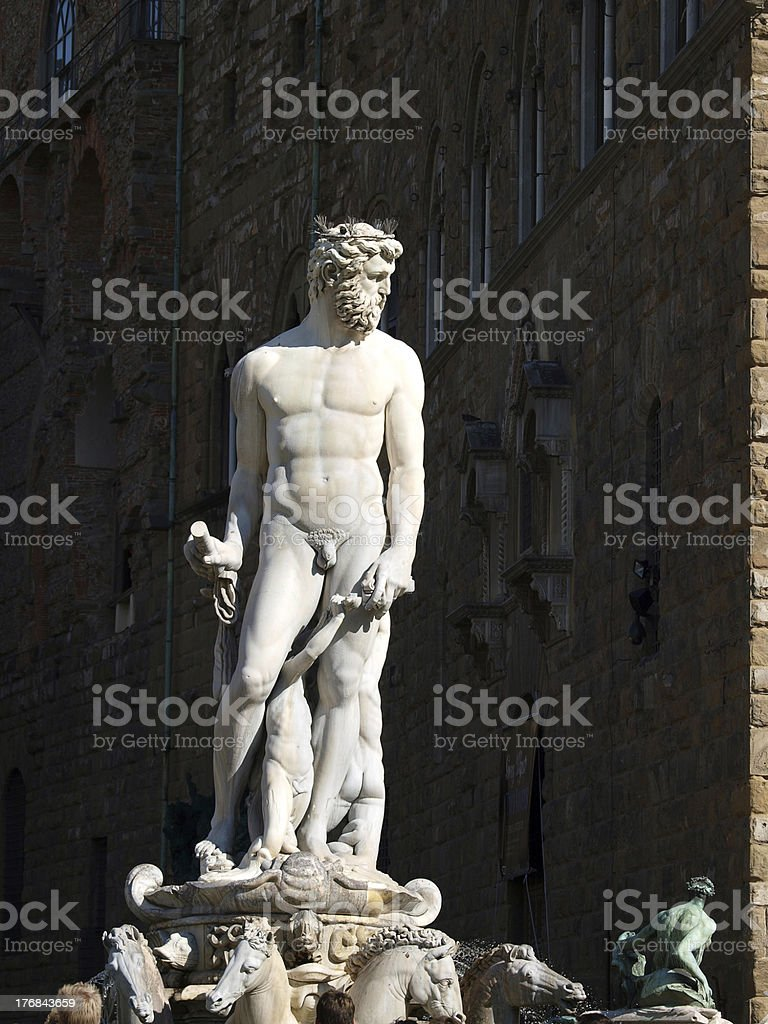 Florence - Fountain of Neptune stock photo