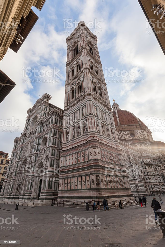 Firenze, il Campanile di Giotto stock photo