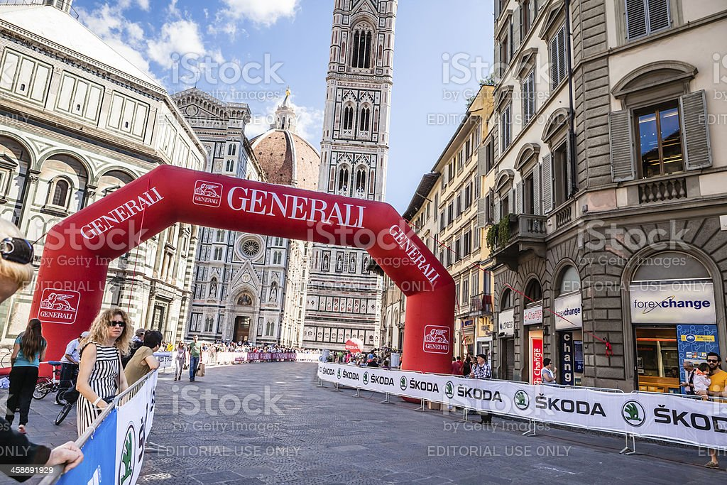 Florence Hosts the 2013 UCI Road World Championships royalty-free stock photo
