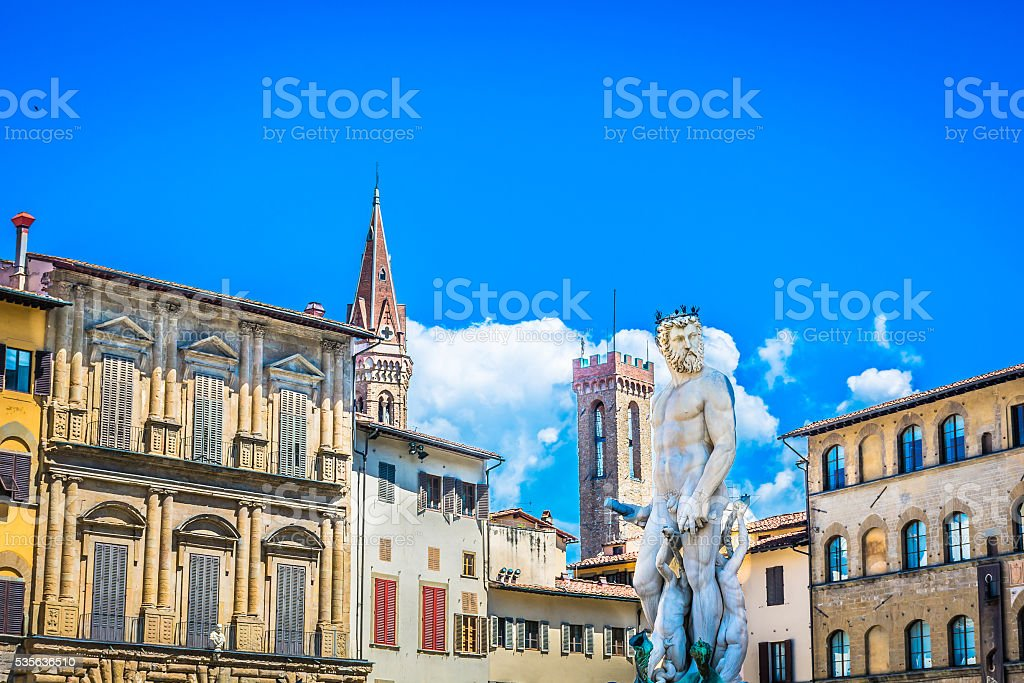 Florence in spring time, Europe. stock photo