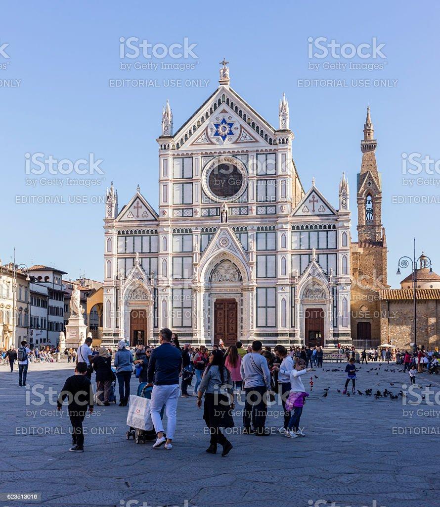 Florence, Italy. Basilica di Santa Croce stock photo