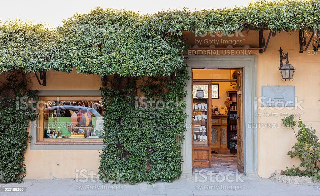 Florence, Italy. Basilica of San Miniato. Pharmacy of the monastery stock photo