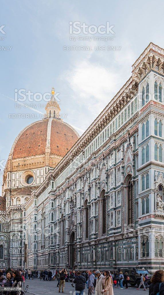 Florence, Italy. Cathedral and Brunelleschi's dome stock photo