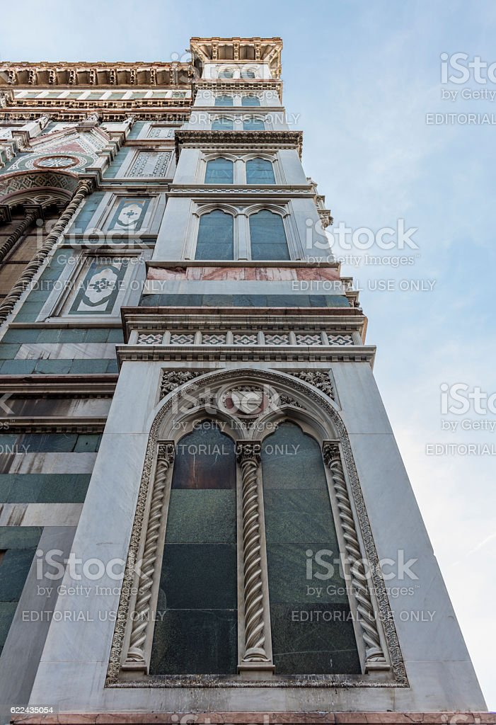 Florence, Italy. Cathedral of Santa Maria del Fiore. Detail stock photo
