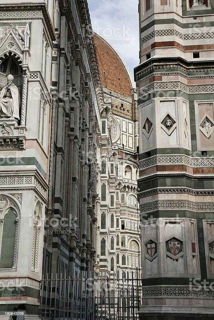 Florence Italy Detail Of Duomo And Campanile stock photo