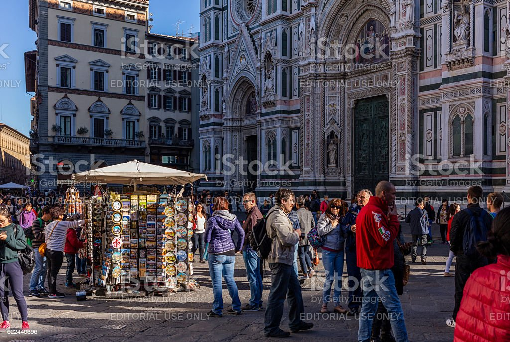 Florence, Italy. In Piazza del Duomo stock photo