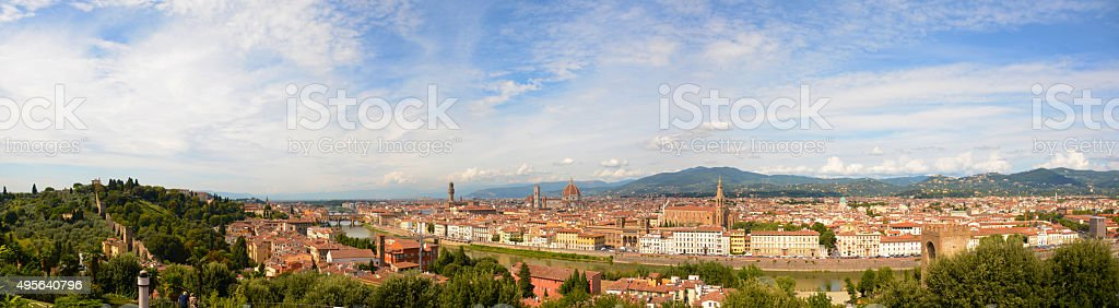 Florence Italy Panoramic View stock photo