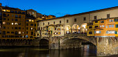 Florence, Italy. The Ponte Vecchio at night