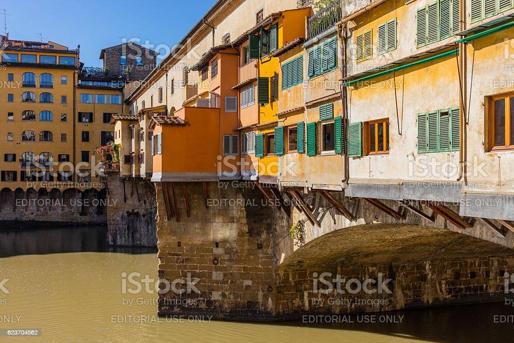Florence, Italy. The Ponte Vecchio stock photo