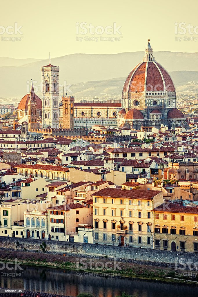 Florence, Italy - view from above stock photo