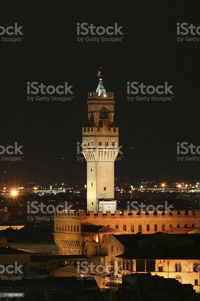 Florence Landscape Night Scene - Tuscany, Italy stock photo