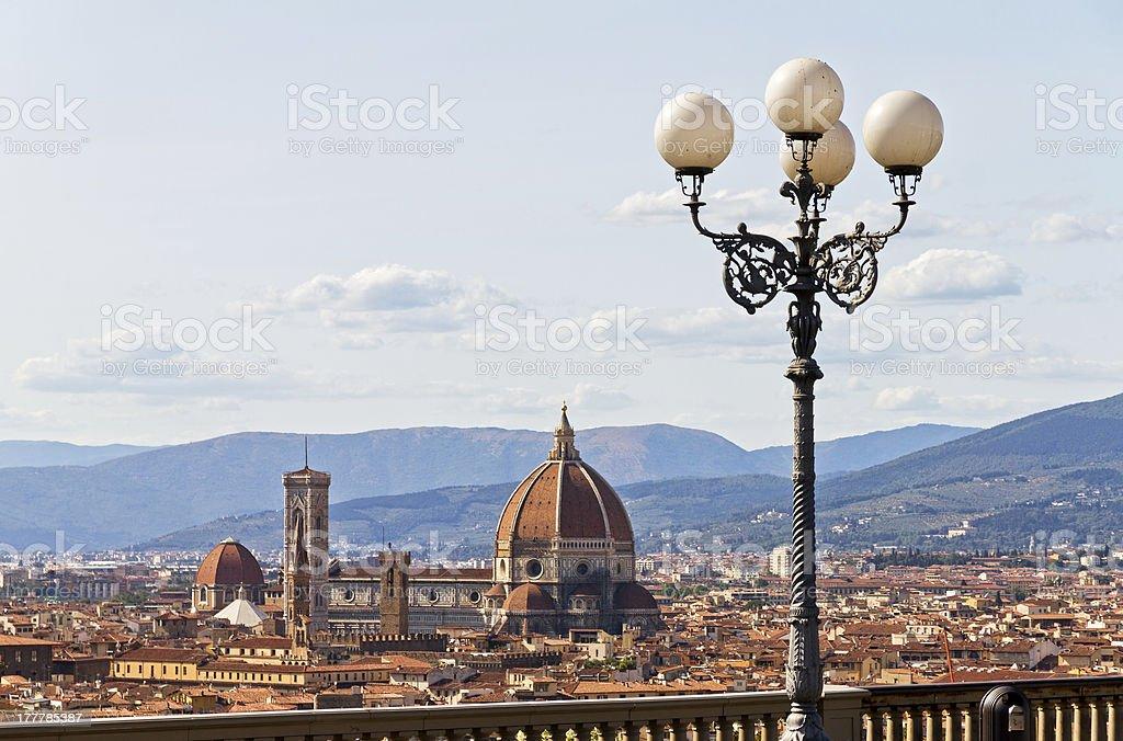Florence lantern stock photo