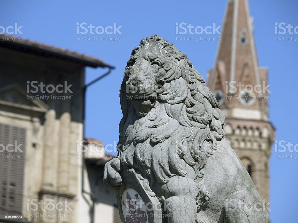 Florence - Lion Marzocco. stock photo