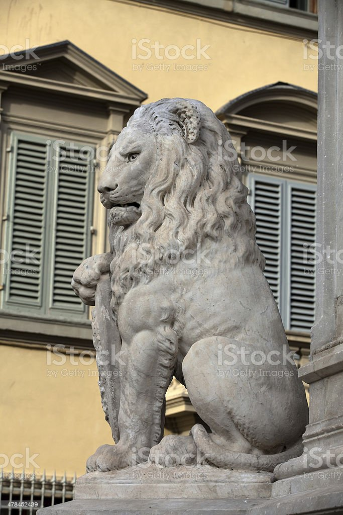 Florence - Lion Marzocco stock photo