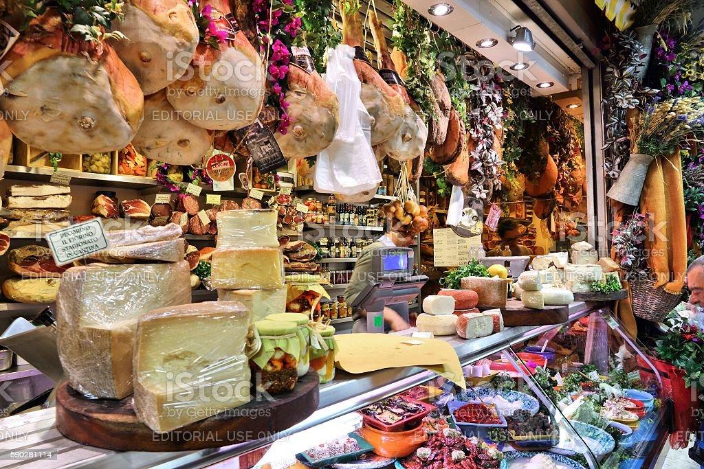 Florence market stock photo