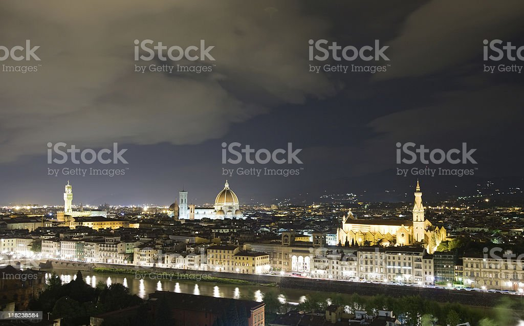 Florence night view royalty-free stock photo