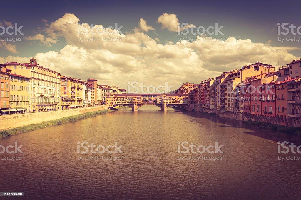 Ponte vecchio florence stock photo