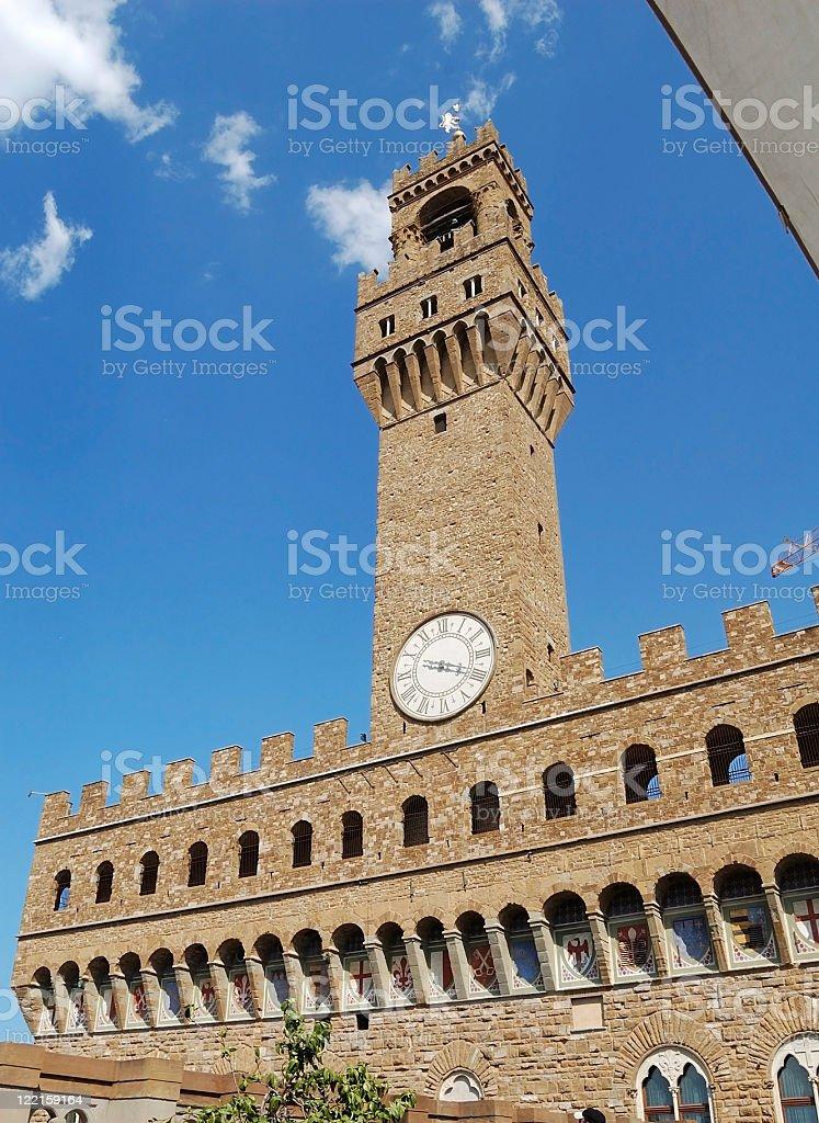 Florence - Palazzo Vecchio royalty-free stock photo