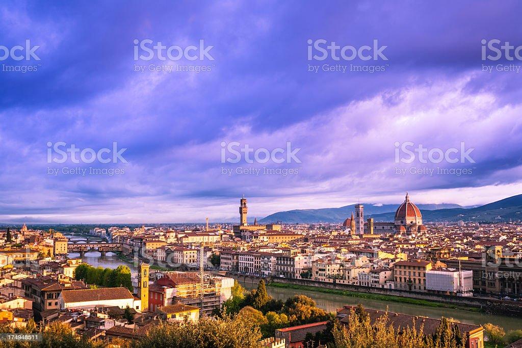 Florence panoramic royalty-free stock photo
