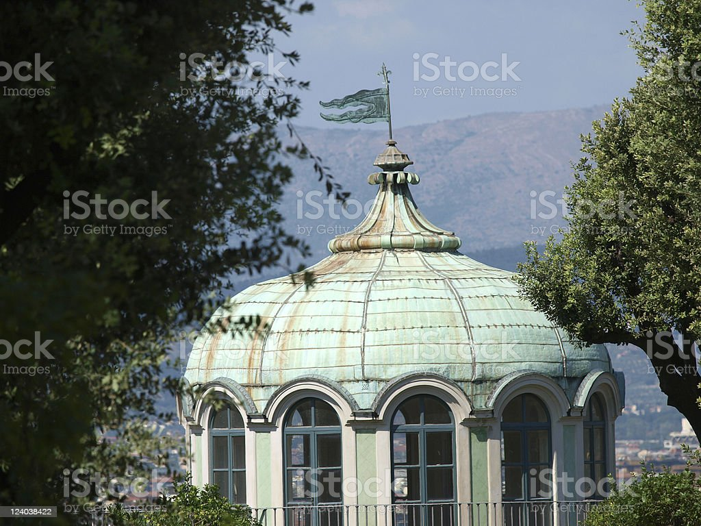 Florence -  pavilion in the Gardens of Boboli stock photo