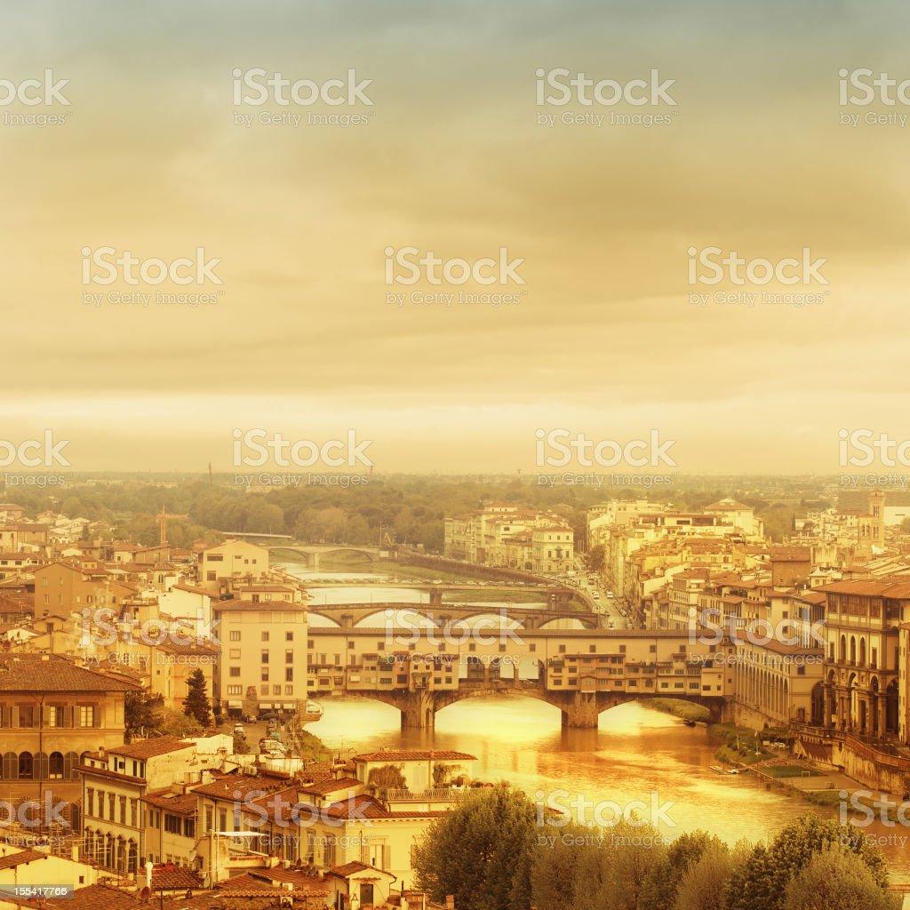 Florence, Ponte Vecchio royalty-free stock photo