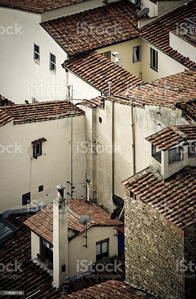 florence rooftops stock photo