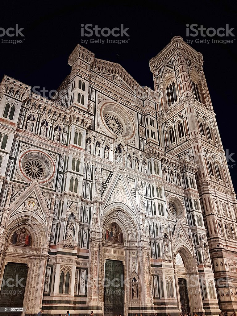 Florence - Santa Maria del Fiore and Campanile Giotto stock photo