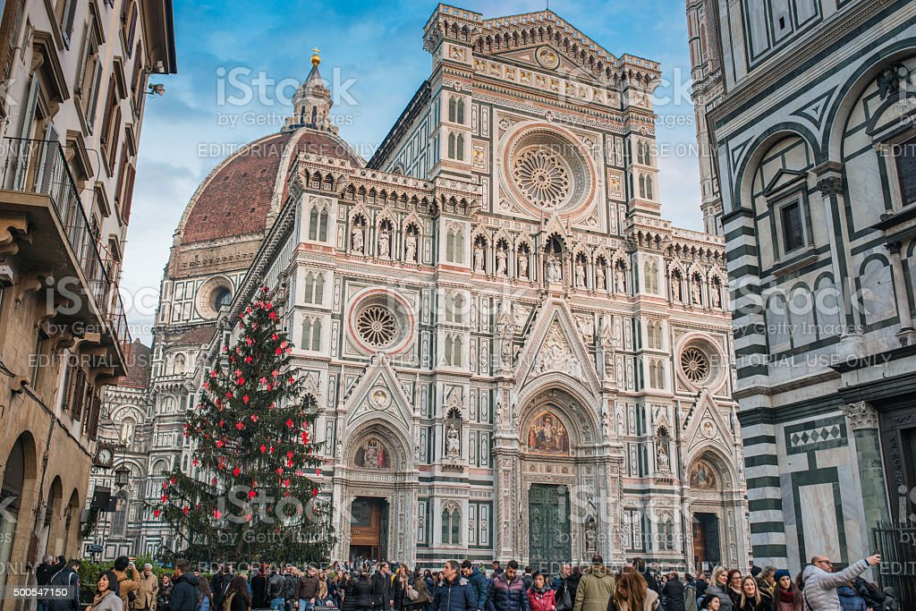 Florence Santa maria del fiore for christmas stock photo