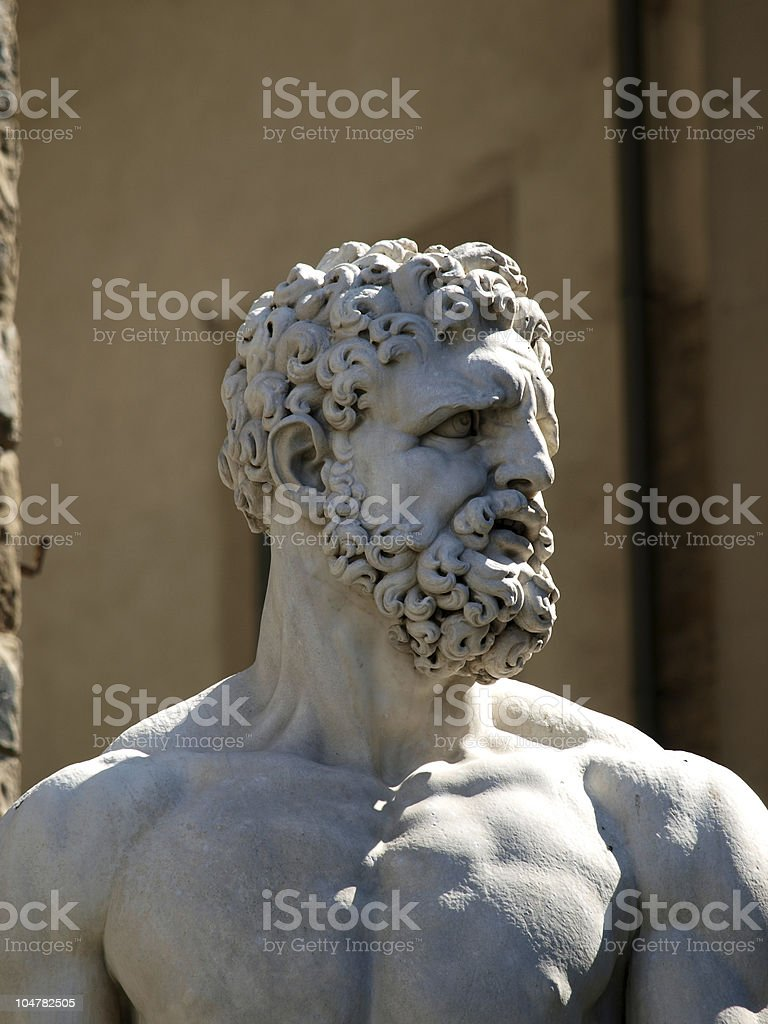Florence - Sculpture Hercules stock photo