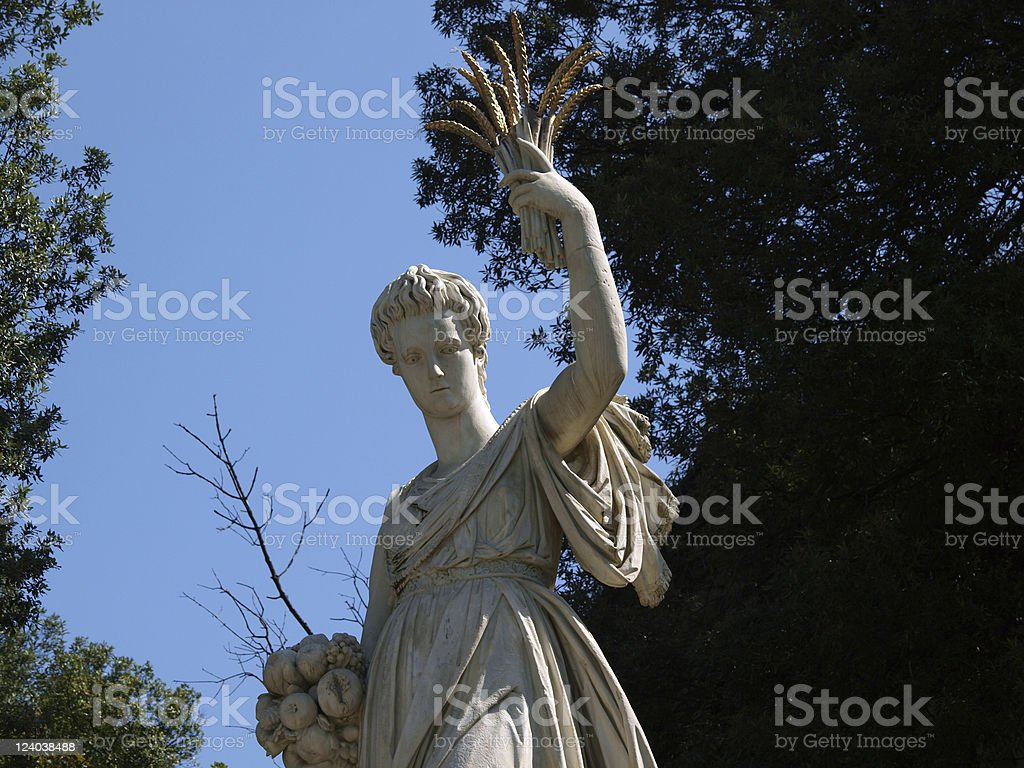 Florence - sculpture in the gardens of Boboli stock photo