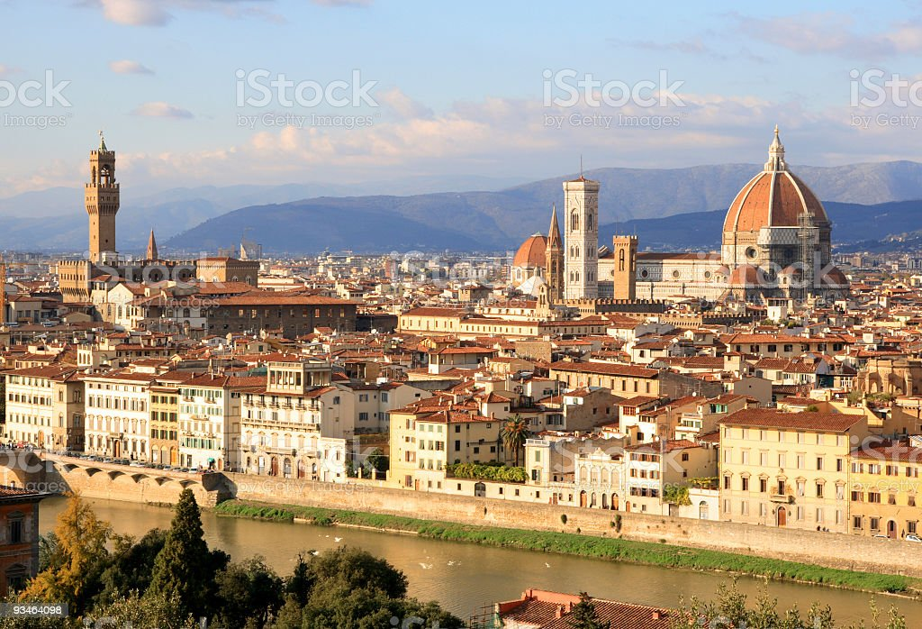 Florence Skyline City, Tuscany, Italy royalty-free stock photo