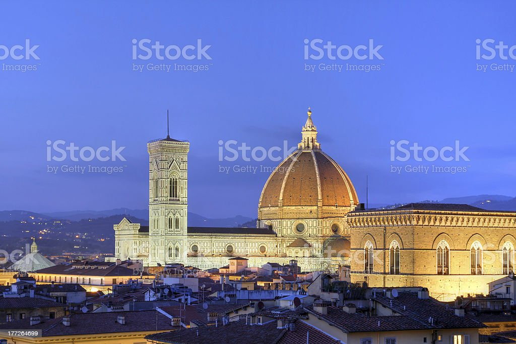 Florence skyline, Italy stock photo
