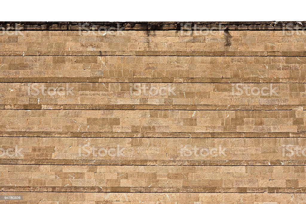 Florence SMN Train Station Stone Facade, Architectural Texture Background stock photo