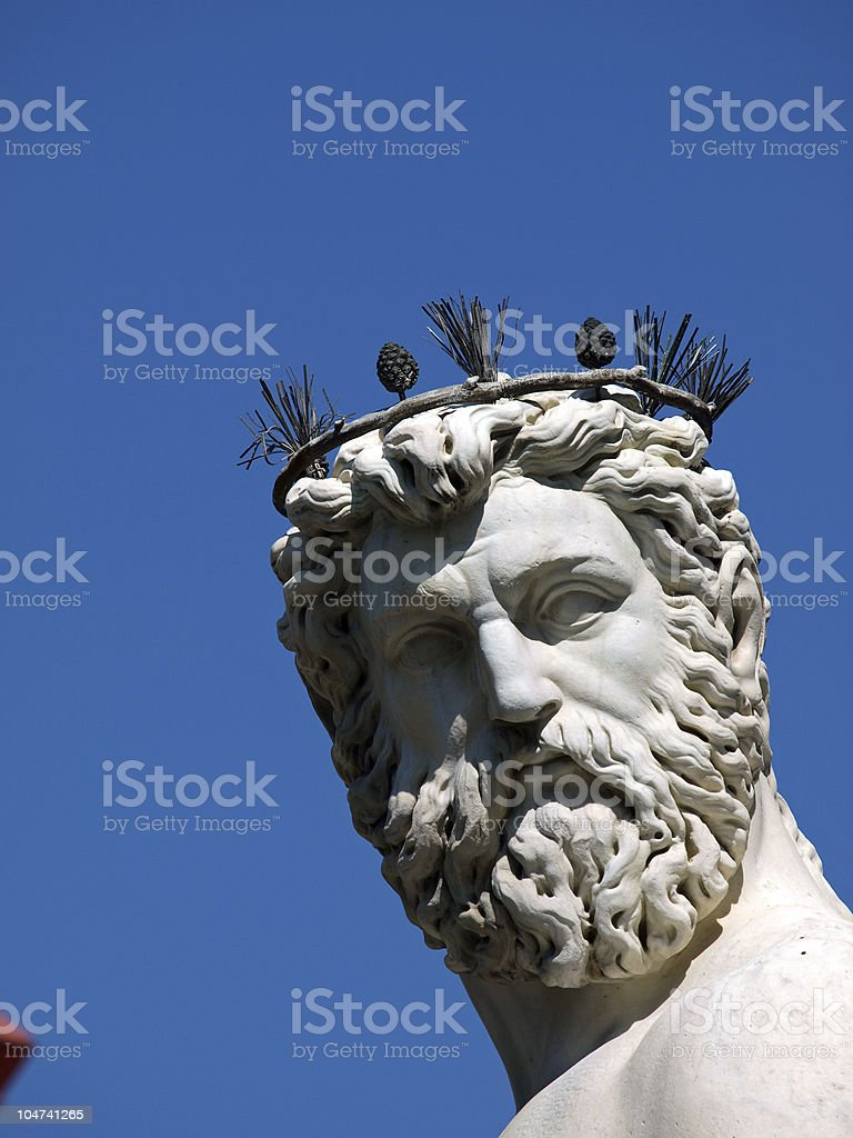 Florence - Statue of Neptune stock photo