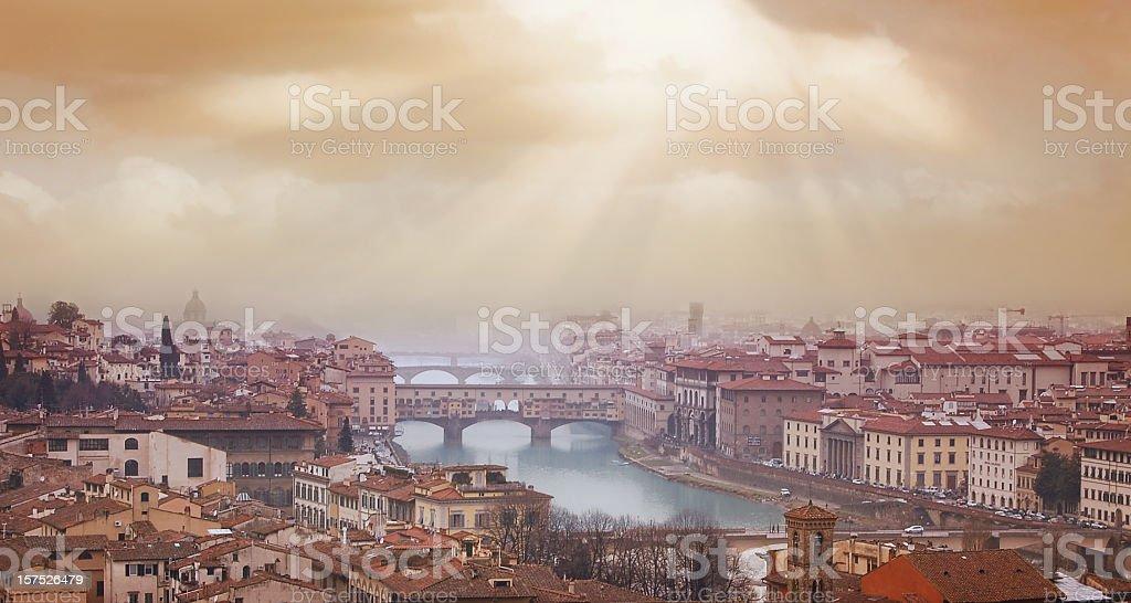 Florence sunset royalty-free stock photo