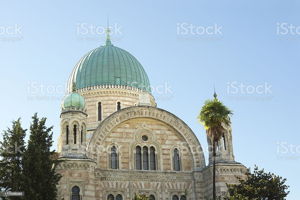 Florence, the Israelite Synagogue royalty-free stock photo
