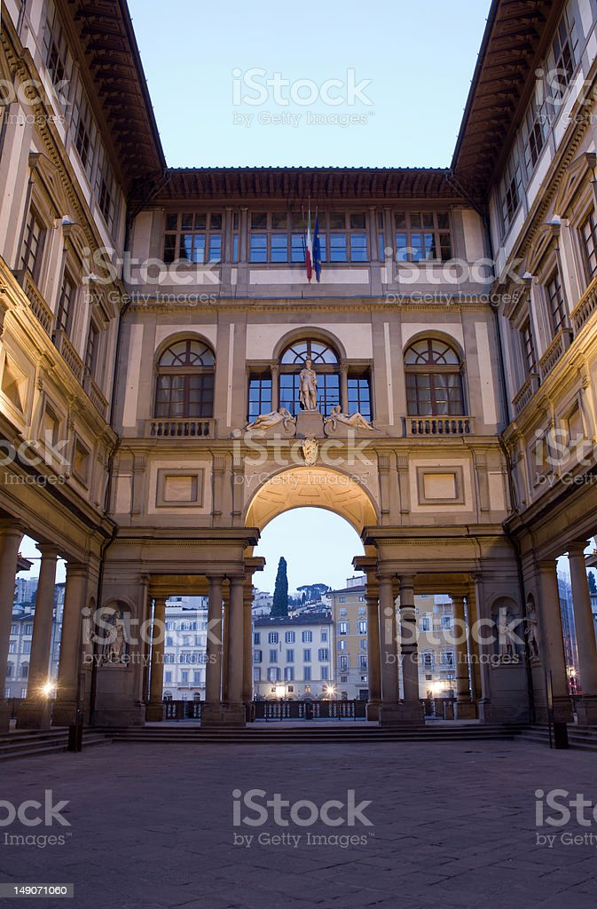 Florence - Uffizi gallery in morning stock photo