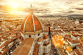 Florence view. Basilica di Santa Maria del Fiore. Italy.