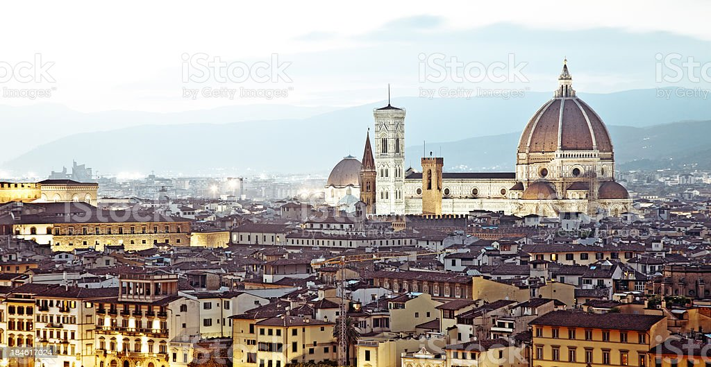 Florence view stock photo