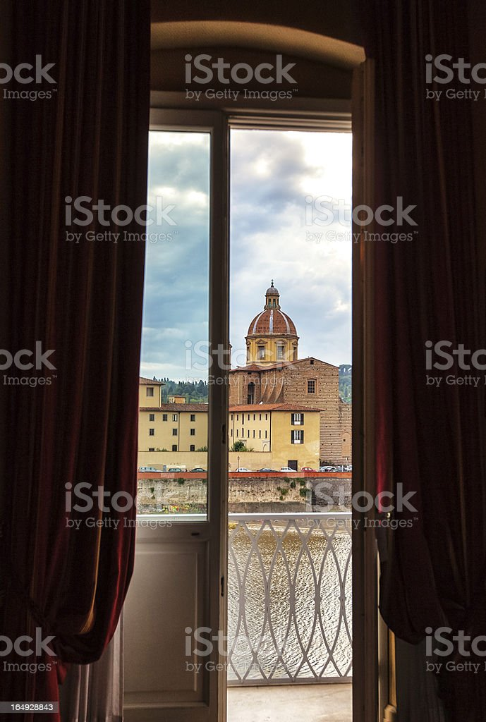 Florence viewed from Hotel Room royalty-free stock photo