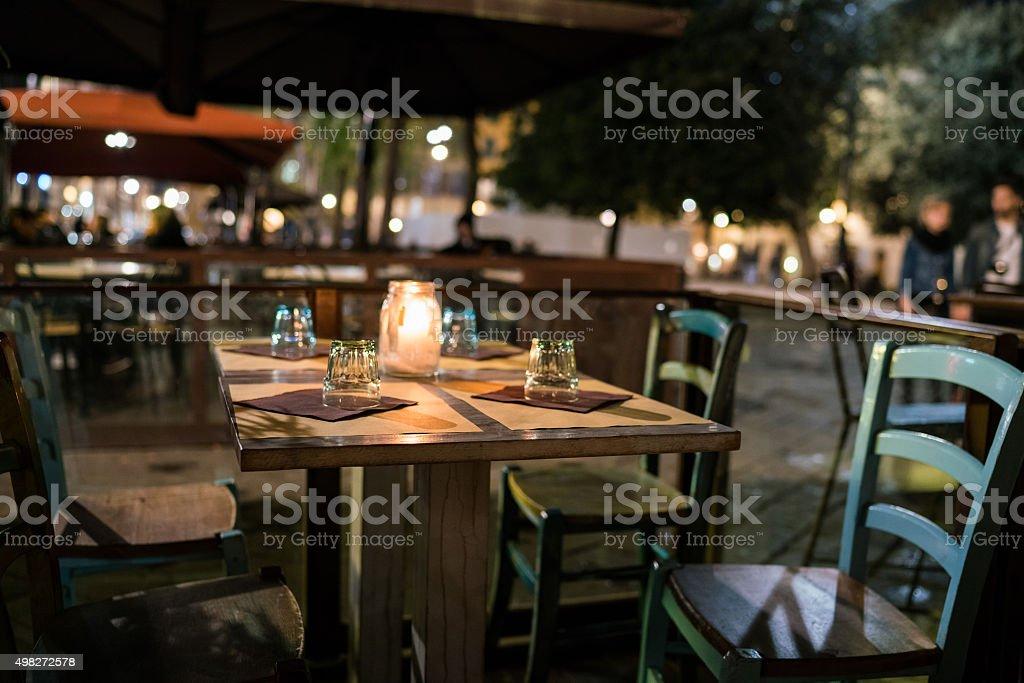 Florence white table stock photo