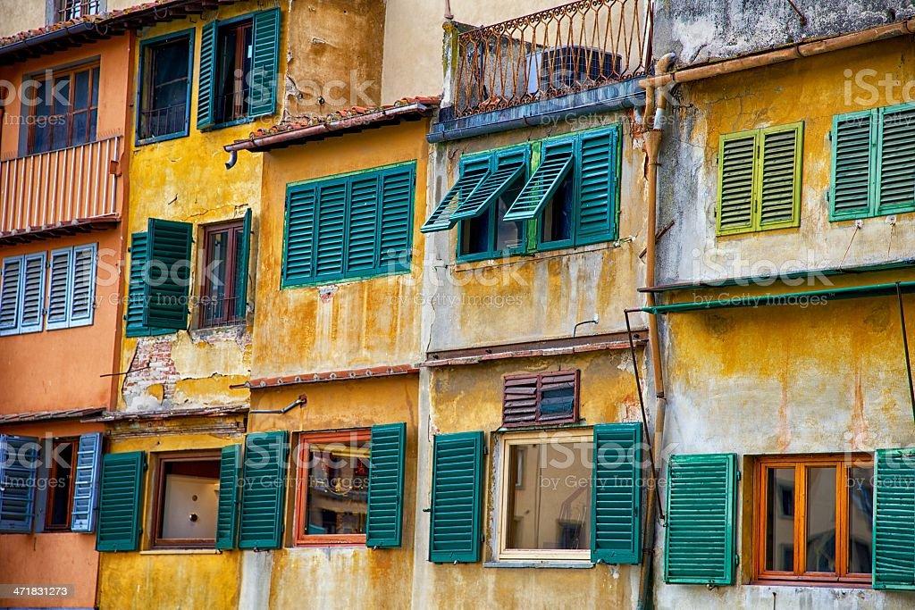 Florence Windows - Ponte Vecchio royalty-free stock photo