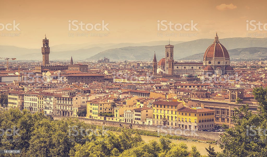 Florence with Duomo, Italy stock photo