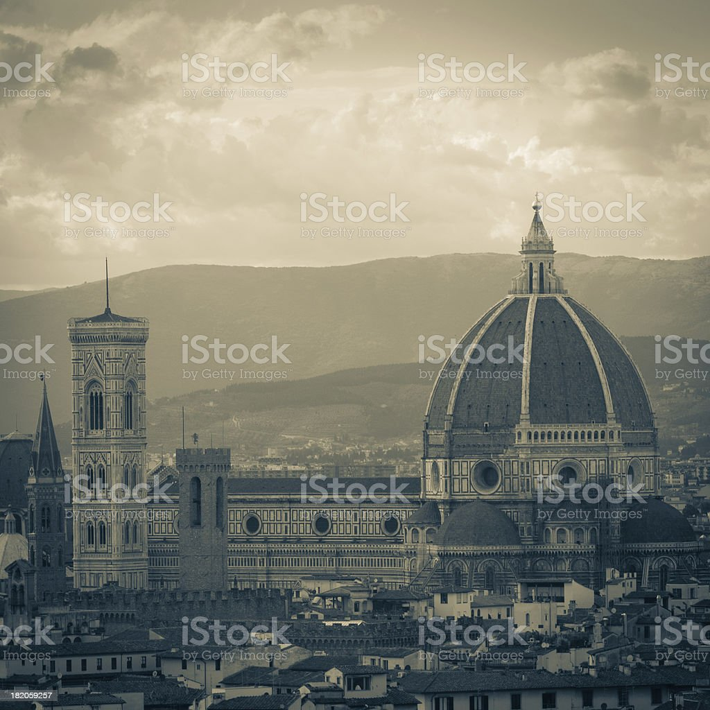 Florence's cathedral old style stock photo