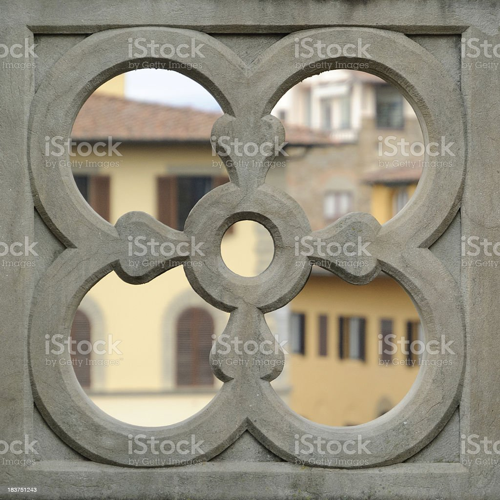 Florence:Terrace detail stock photo