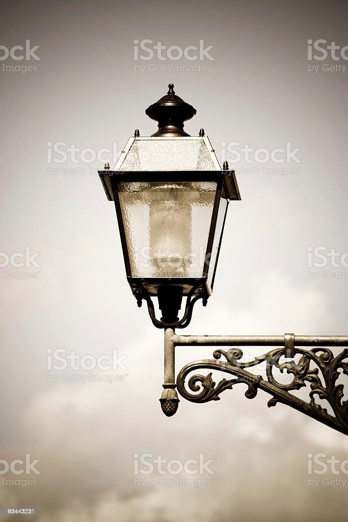 Florentine street lamp royalty-free stock photo