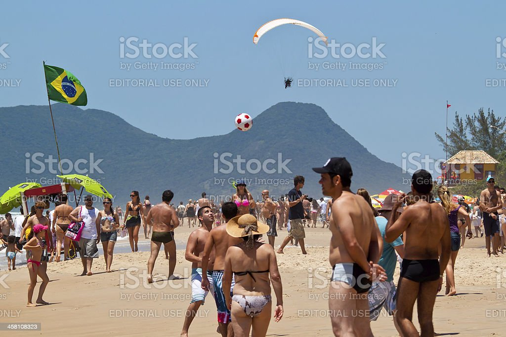 Florianopolis beach day stock photo