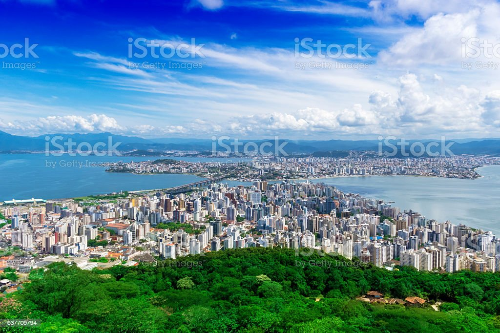 Florianopolis, capital of Santa Catarina State, Brazil stock photo